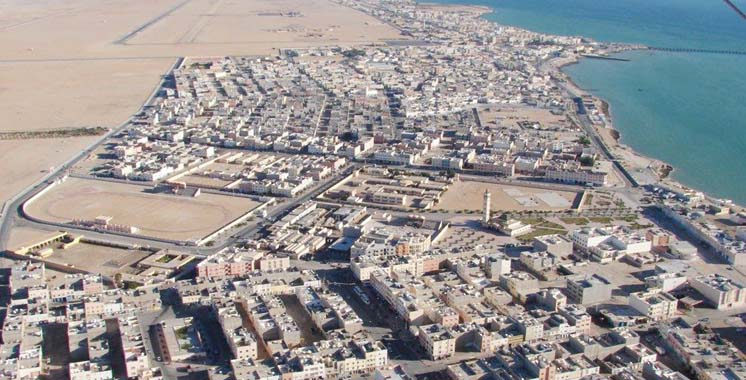 Foto aérea de Dakhla, antigua Villacisneros